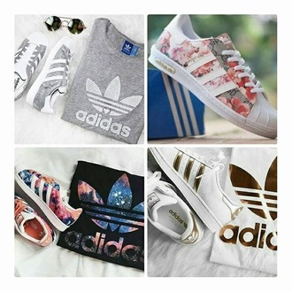 shoes adidas shoes floral sneakers adidas superstars adidas