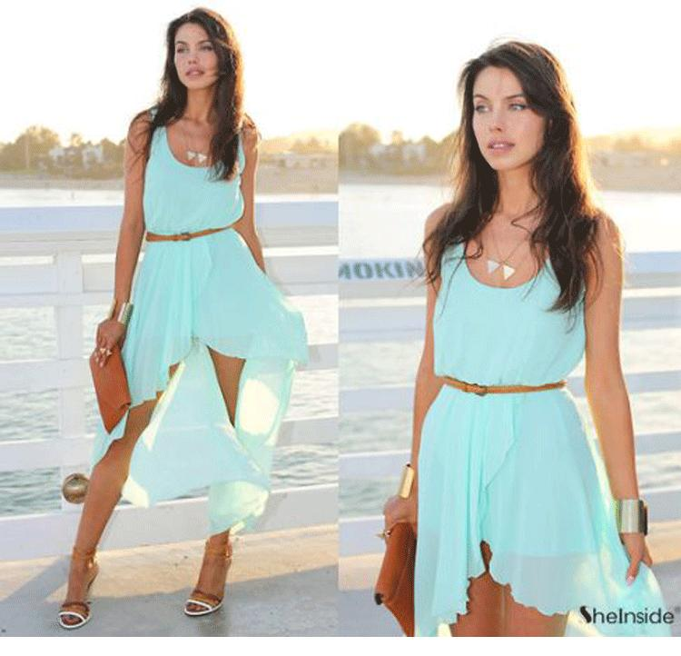 New Spring 2014 Ladies Long Winter Chiffon Sexy Dress Warm Fashion Maxi Mint Green Summer Dress Casual Brand Dresses LQ4252-in Dresses from Apparel & Accessories on Aliexpress.com