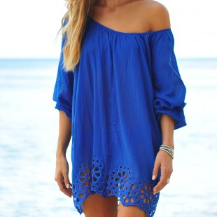 Coco Bay Seafolly Satisfaction Beach Cover Up Kaftan In Lapis Blue Buy This Gorgeous Cotton Seafolly