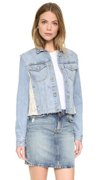 jacket denim jacket denim light lace