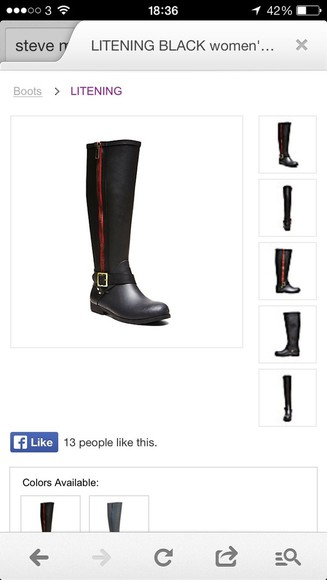 zip black shoes boots winter boots knee high boots black boots leather boots