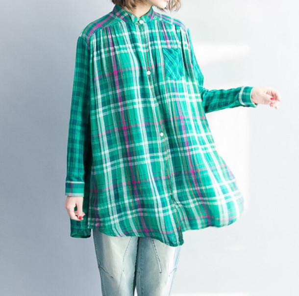 shirt top cotton shirt