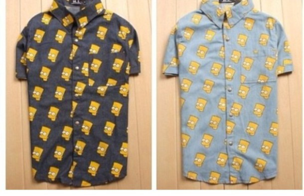 Bart Simpson Button Up July 2017