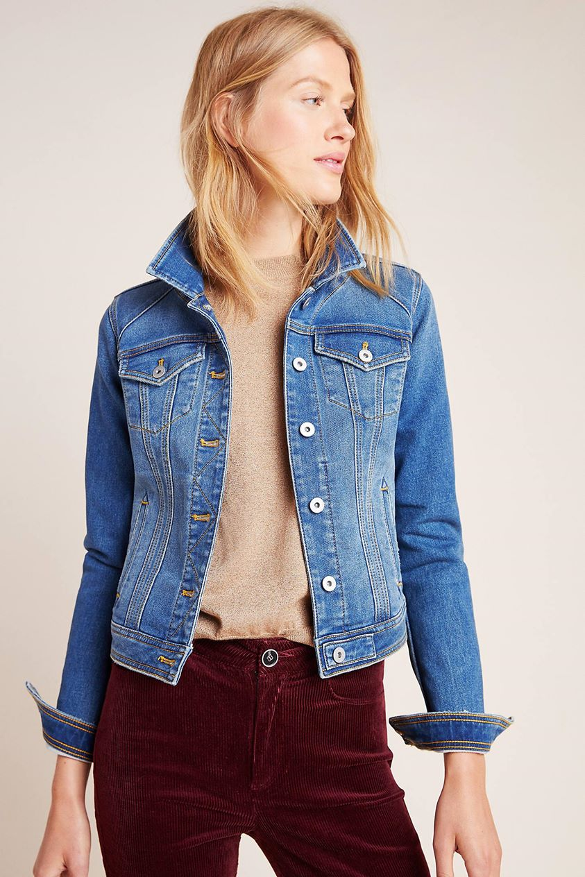 Pilcro Classic Denim Jacket by and the Letterpress in Blue