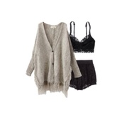 cardigan,beige,cream,brown,knit,sweater,oatmeal,chic,grunge,indie,oversized,gorgeous,lovely,beautiful,sexy,black,lace,crop tops,beaker,bustier,short shorts,shorts,tank top