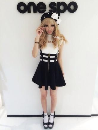 skirt creepy cute overalls overall skirt harajuku adorable pants top