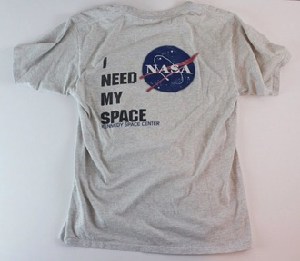 shirt nasa space planets galaxy print stars tumblr hipster grunge i need my space nasa shirt i need my space shirt