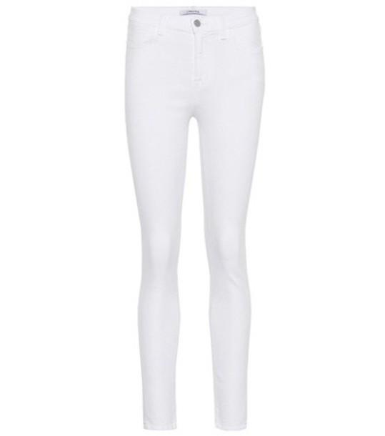 J BRAND jeans skinny jeans high white