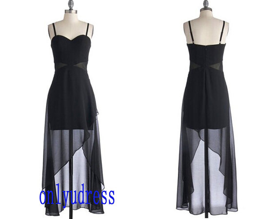 Black evening dresses high low black cocktail by onlyudress