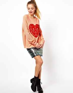 ASOS | ASOS Baroque Heart Sweater at ASOS