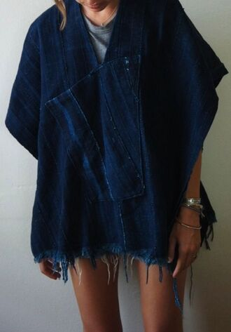 jacket denim poncho oversized poncho poncho poncho tops poncho overzided denim denim jacket oversized jean jackets