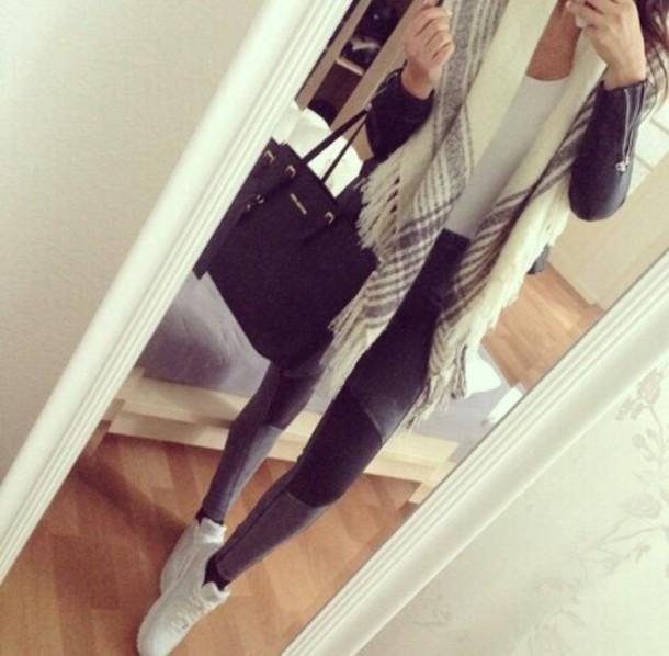 scarf bag michael kors bag michael kors leggings jeans air max shoes black jeans cardigan pants