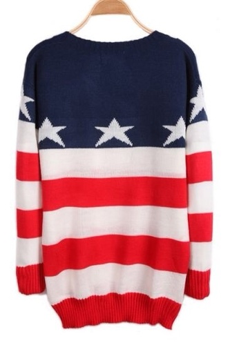 sweater america flag