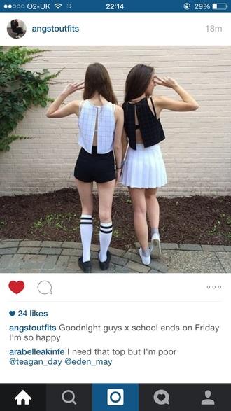 top american apparel skirt pleated skirt