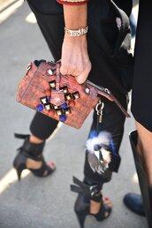 bag,embellished,printed bag,keychain,fur keychain,embellished bag,bag accessories,karlito,karl lagerfeld