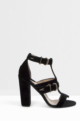 women sandals velvet black shoes
