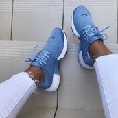 shoes,nike,air presto,blue,nike shoes,white,nikes,blue and white,nike running shoes,nike air,nike sneakers,nike air presto