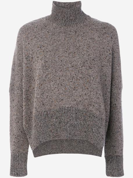 Gentry Portofino - loose fit roll neck jumper - women - Cashmere - 42, Brown, Cashmere