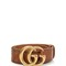 Embossed gg leather belt