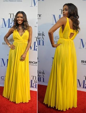 dress yellow yellow dress celebrity style gabrielle union