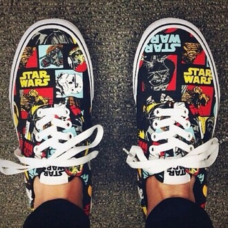 shoes girly girl girly wishlist vans vans of the wall star wars low top sneakers multicolor