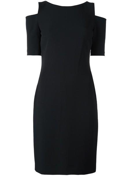 dress women spandex cold black