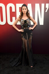 dress,gown,prom dress,lily aldridge,model,see through,see through dress,red carpet dress,long prom dress,long dress