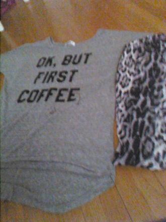 pajamas coffee ok but first coffee