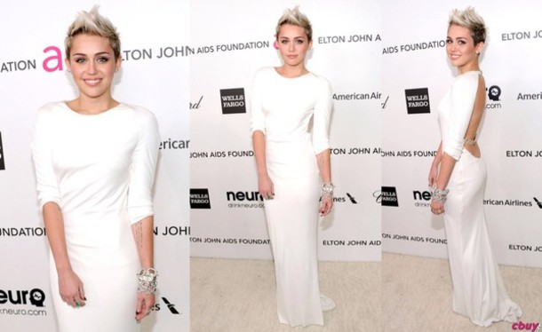 Dress: miley cyrus, white dress - Wheretoget