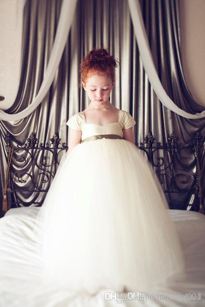 2015 Flower Girl Dress Cheap Little Girl Formal Dresses Ball Gown