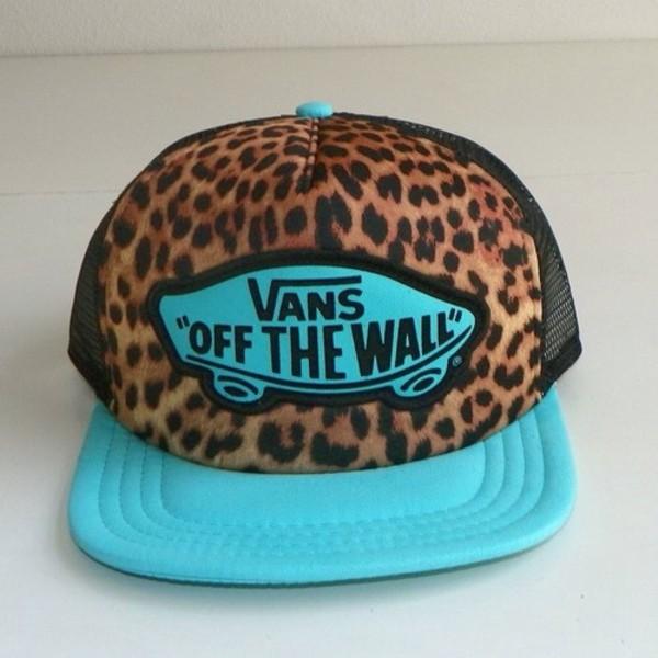 hat vans leopard print girl snapback