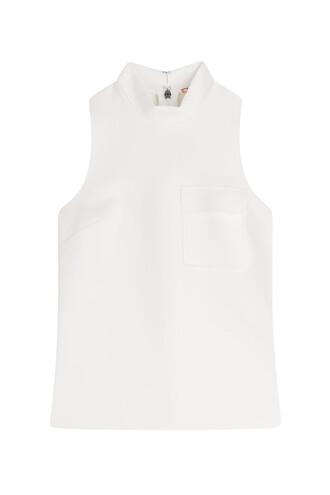 blouse sleeveless white top
