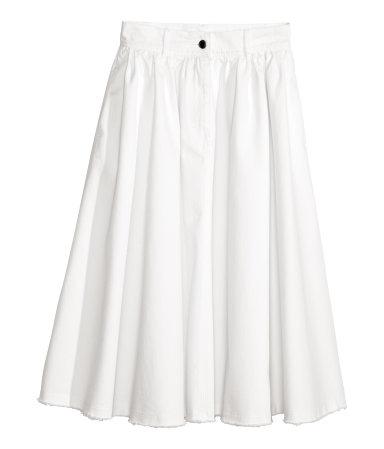 H&M Wide denim skirt £20