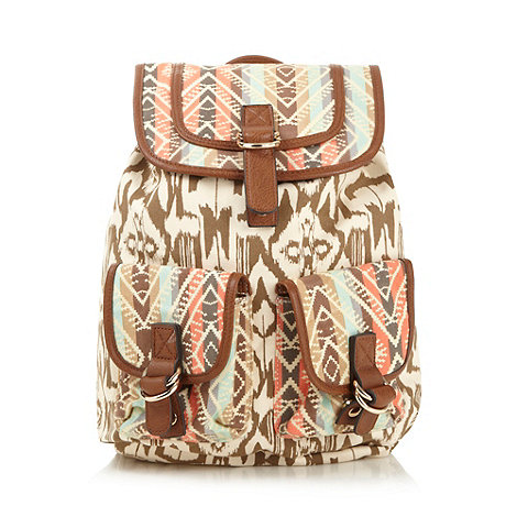 Call It Spring Natural aztec 'Buckbee' backpack- at Debenhams.com