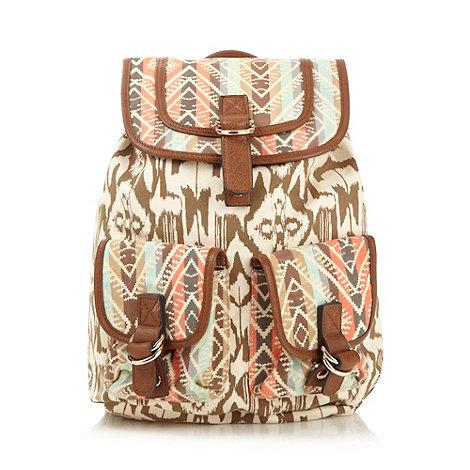 Call It Spring Natural aztec 'Buckbee' backpack- at Debenhams.com