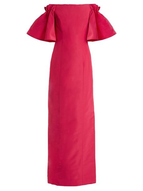 oscar de la renta gown silk pink dress
