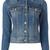 Burberry stonewashed denim jacket, Women's, Size: 6, Blue, Cotton/Spandex/Elastane/Polyester
