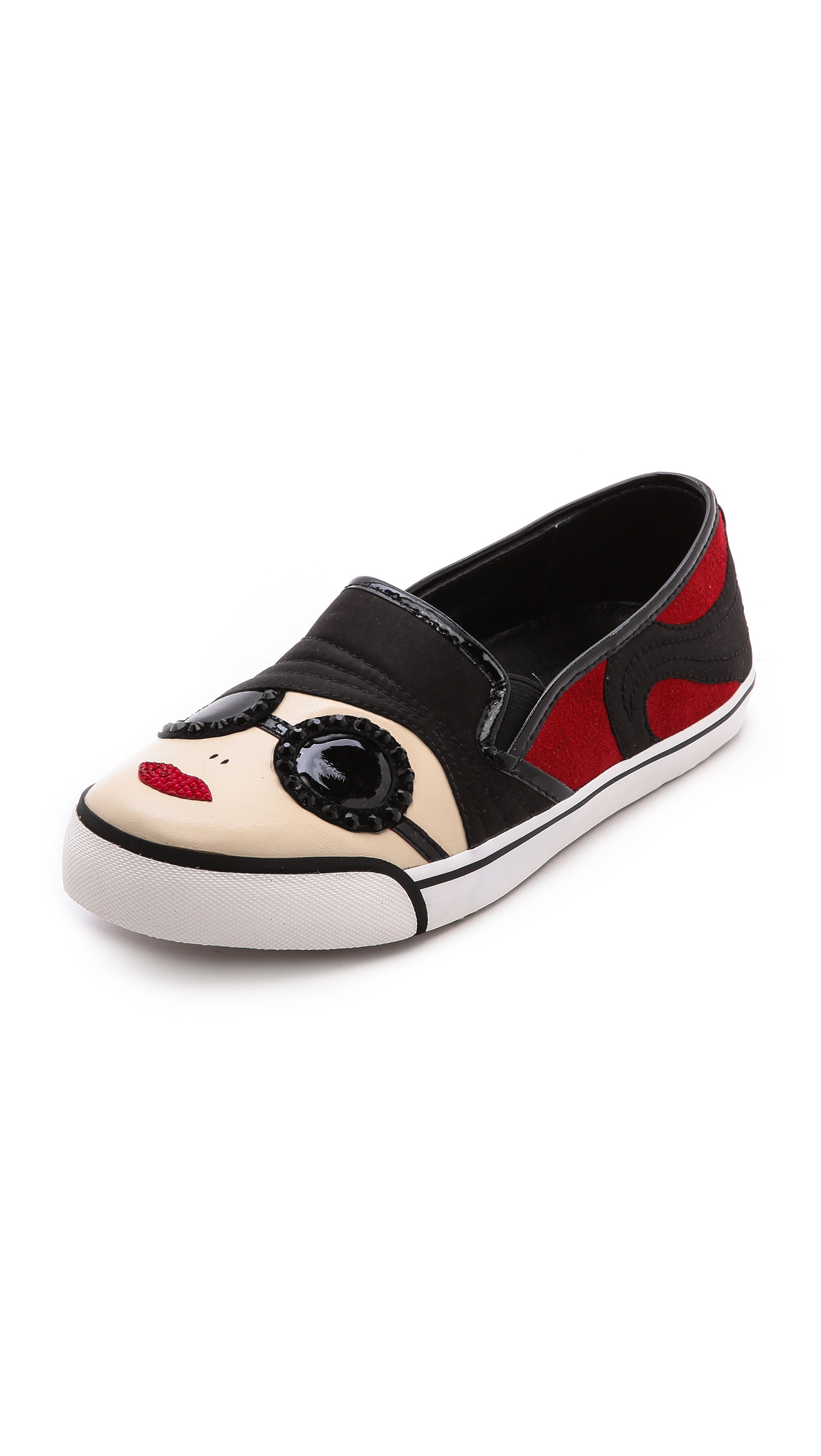 Alice   olivia stacey face slip on sneakers