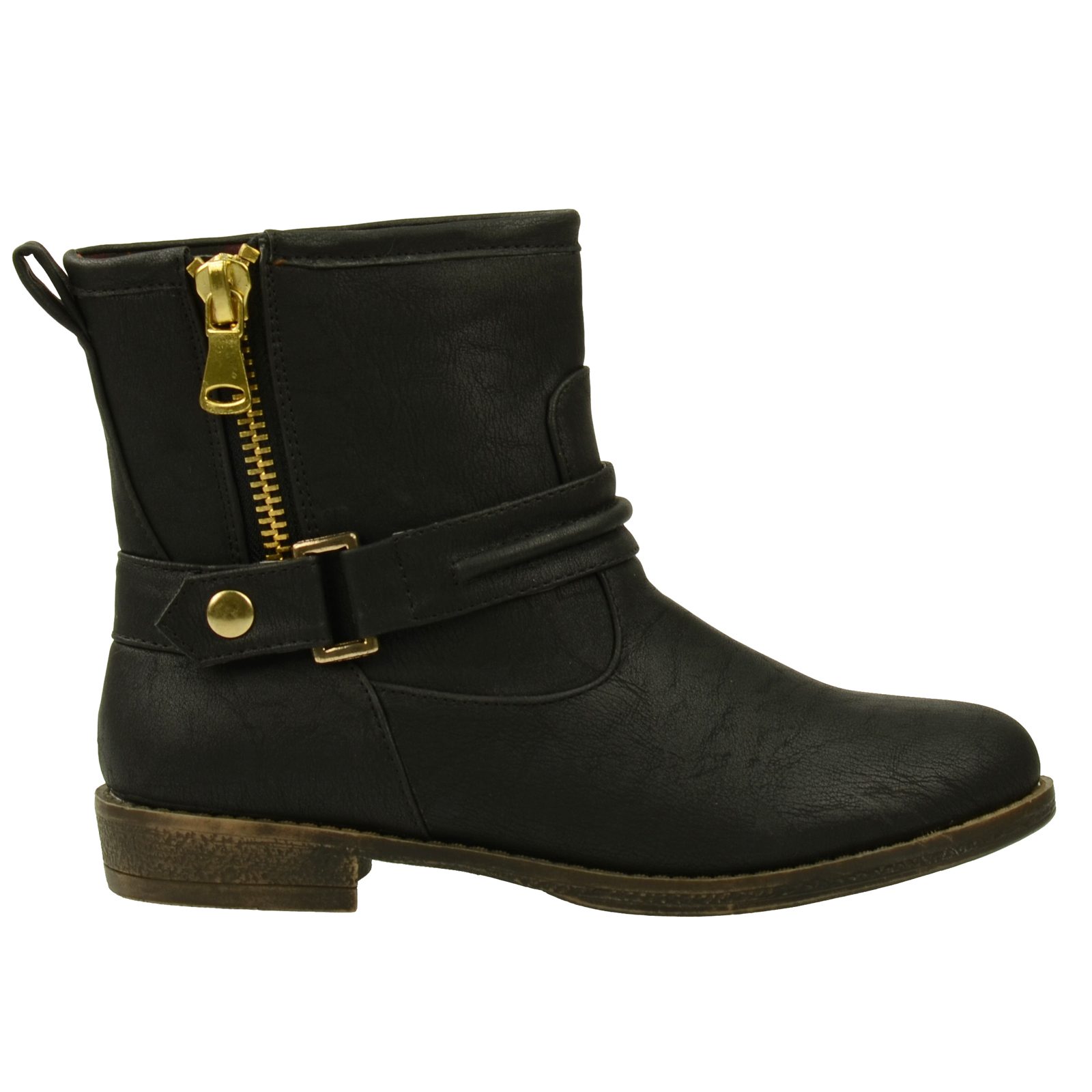 Boots synthétique noire à fermeture éclair // bottines  // SACHA
