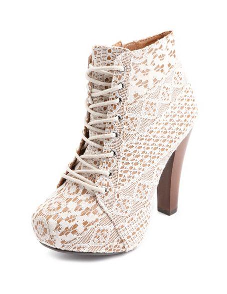 Up heel bootie: charlotte russe