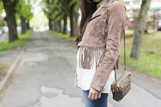 blaastyle blogger fringed jacket suede jacket
