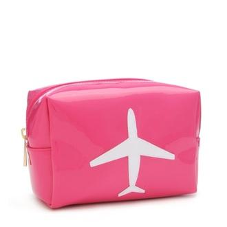 bag pink airplane makeup bag