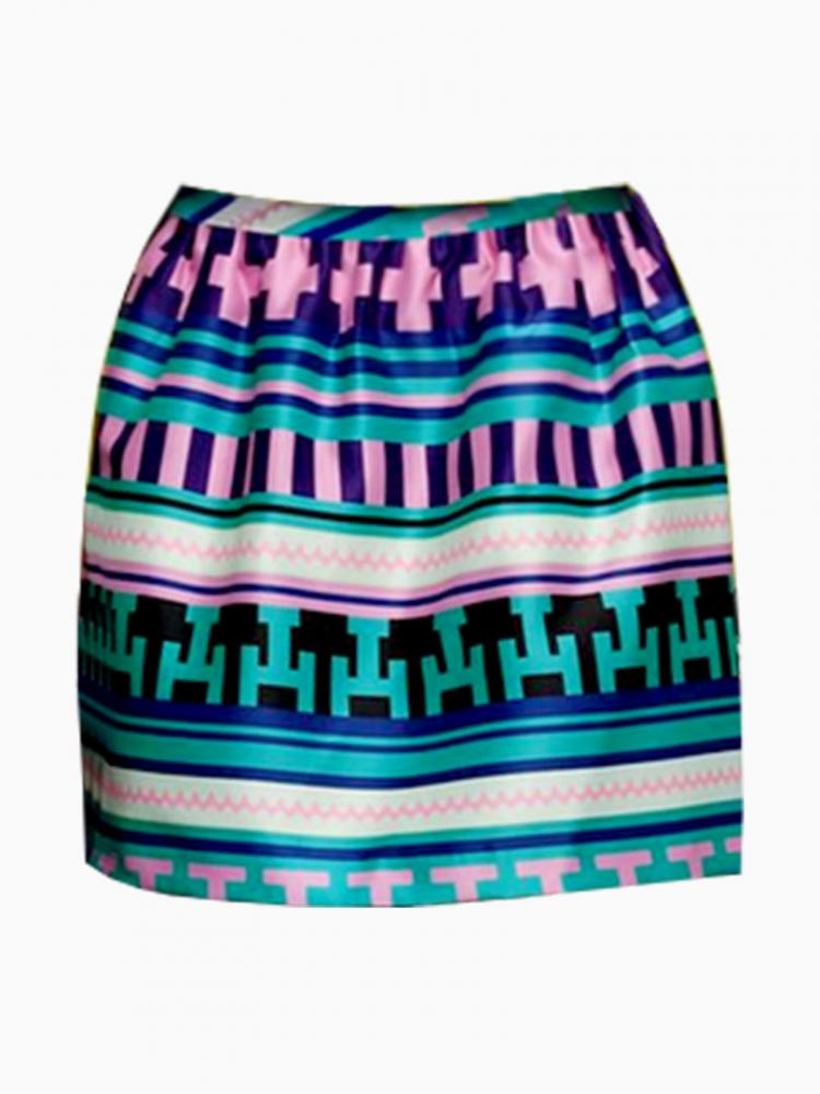 Green Vintage Stripe Mini Skirt | Choies