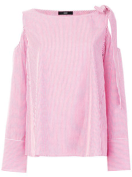 Steffen Schraut blouse bow women cotton red top