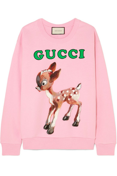Gucci - Printed cotton-jersey sweatshirt