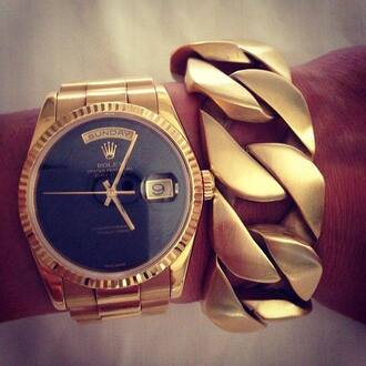 jewels bracelets watch gold rolex chain