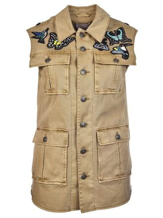 vest brown jacket