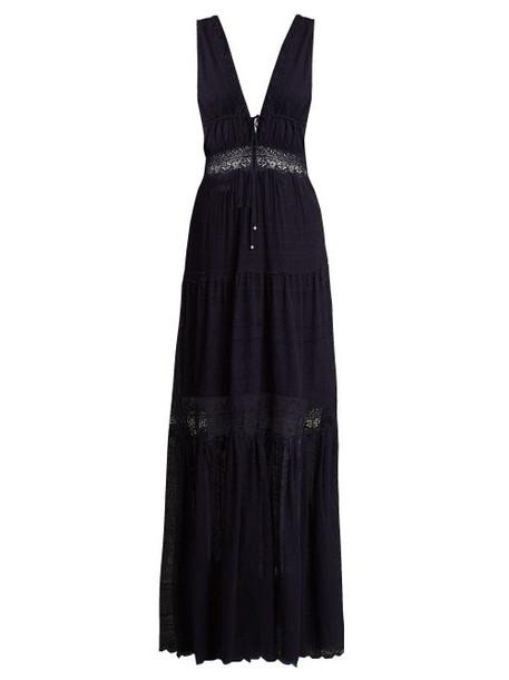 Jonathan Simkhai - Embroidered Lace Silk Dress - Womens - Navy