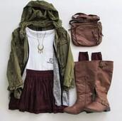 coat,hoodie coat,green jacket,jacket,shoes,leggings,boots,bag,tights,skirt,winter jacket,winter coat,winter dress,jewels,shirt,t-shirt,socks,pants,brown boots