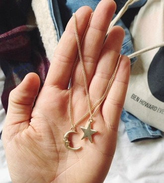 jewels necklace moon sun tumblr
